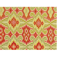 *1 YD PC--Designer Cotton Multicolor Diamond Maze Print Home Decorating Fabric
