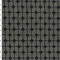 *1 YD PC--Grey/Black Hugo Mushroom Damask Home Decorating Fabric