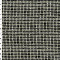 *1 YD PC--Slate Black/Ivory  Dynamic Stripe Home Decorating Fabric
