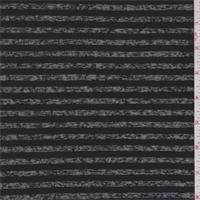 *2 1/8 YD PC--Black Burnout Stripe T-Shirt Knit