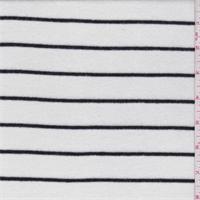 *2 1/8 YD PC--White/Black Pinstripe Sweater Knit