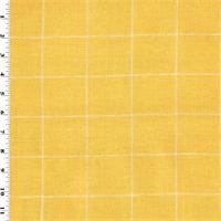 *4 1/2 YD PC--Designer Cotton Sun Yellow Windowpane Home Decorating Fabric