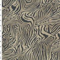 *1 YD PC--Brown/Black Abstract Tiger Print Chiffon