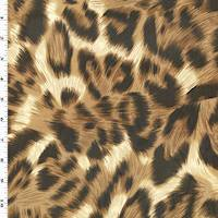 *2 YD PC--Brown/Black Leopard Print Chiffon
