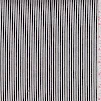 *2 7/8 YD PC--Off Black/White Stripe Cotton Shirting