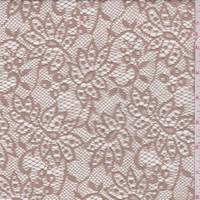 *2 YD PC--Antique Brass Stylized Floral Lace