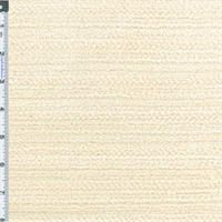 *1 YD PC--White Terry Chenille Home Decorating Fabric
