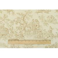*10 YD PC--Pearl Beige/Tan Toile Jacquard Home Decorating Fabric