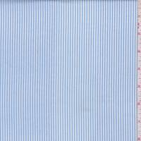 Cloud Blue/White Stripe Lyocell Blend Shirting
