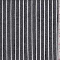 Black/White Stripe Cotton Oxford Shirting