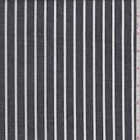 Black/White Stripe Cotton Oxford Shirting