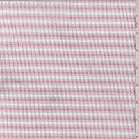 White/Blush Pink Stripe Textured Knit