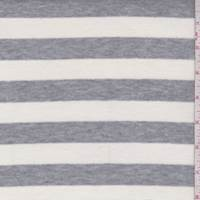 Ivory/Grey Stripe Jersey Knit