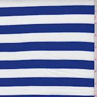 Sapphire/White Stripe Jersey Knit