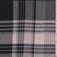 Mauve/Black/Grey Plaid Flannel