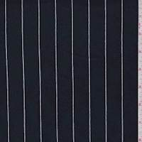 Dark Navy Pinstripe French Terry Knit