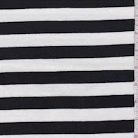Black/White Stripe Jersey Knit