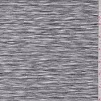 Black Stripe/Grey Space Dye Reversible Jersey Knit