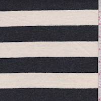 Ivory/Slate Black Stripe Jersey Knit