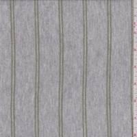 Grey/Avocado Stripe Rayon Sweater Knit