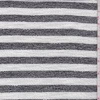 White/Heather Black Stripe French Terry Knit
