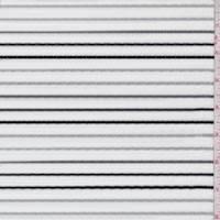 White/Black/Grey Stripe Rib Knit