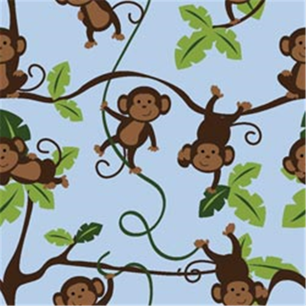 Jungle 123 monkeys 43 44 wide 100 cotton d r nmc141570 for Childrens jungle fabric