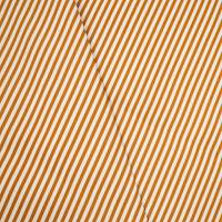 *1 1/4 YD PC -- Orange/Cream Indoor/Outdoor Stripe Twill Home Decorating Fabric
