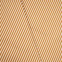 *1 1/4 YD PC -- Orange/Cream Indoor/Outdoor Stripe Twill Home Decorating Fabric