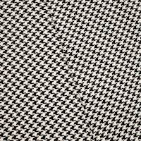 *1 7/8 YD PC -- Black/White Indoor/Outdoor Houndstooth Decorating Fabric
