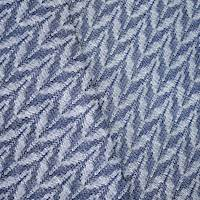 *2 1/4 YD PC -- Navy/White Indoor/Outdoor Textured Jacquard Decorating Fabric