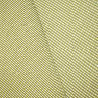*3/4 YD PC -- Green/Yellow/White Indoor/Outdoor Stripe Woven Fabric
