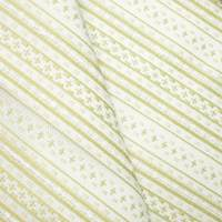 *1 1/8 YD PC -- Mist Olive/White Indoor/Outdoor Stripe Cross Woven Decorating Fabric