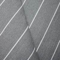 *2 1/8 YD PC -- Gray/White Indoor/Outdoor Stripe Decorating Fabric