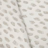 *1 1/8 YD PC -- Beige/White Indoor/Outdoor Cheetah Jacquard Decorating Fabric