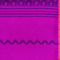 *1 3/4 YD PC--Purple Zig Zag Stripe Leno Mesh