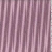 *1 YD PC--Brick/White Stripe Cotton Shirting
