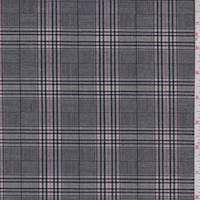 Black/Grey/Orchid Plaid Sparkle Suiting