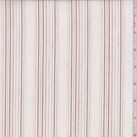 White/Rust Embroidered Stripe Cotton
