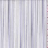 White/Lilac/Grey Embroidered Stripe Cotton