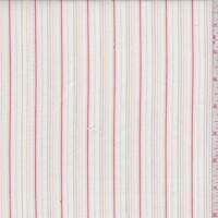 White Multi Embroidered Stripe Cotton