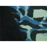 *2 1/4 YD PC--Blue/Black Animal Print Faux Fur