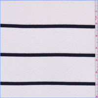*1 3/4 YD PC--Ivory/Black Stripe Sweater Knit