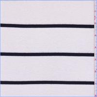 *3 YD PC--Ivory/Black Stripe Sweater Knit