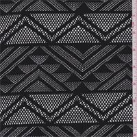 *3 YD PC--Black Geometric Stripe Lace