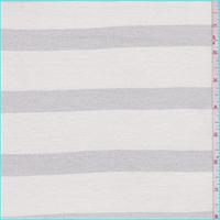 *2 3/4 YD PC--Ivory/Silver Stripe Jersey Knit
