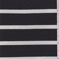 *2 YD PC--Slate/White Stripe Rayon Jersey Knit