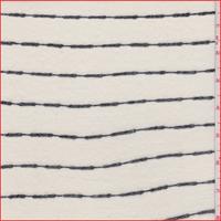 *4 3/4 YD PC--Ivory/Black Wave Stripe T-Shirt Knit