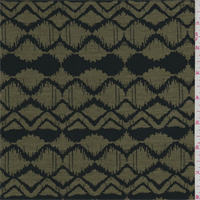 *3 YD PC--Army Green/Black Zig Zag Print Lyocell Jersey Knit