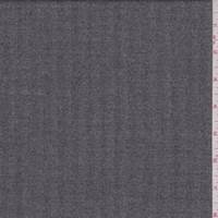 *3 1/4 YD PC--Charcoal Grey Herringbone Twill Wool Suiting
